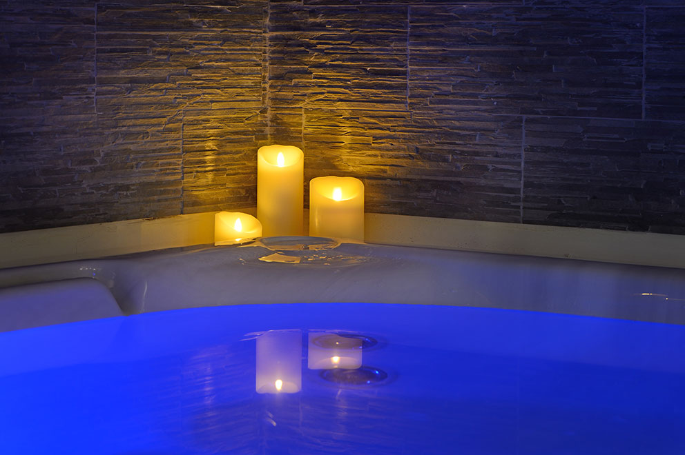 Enjoy a Jacuzzi in our wellness area