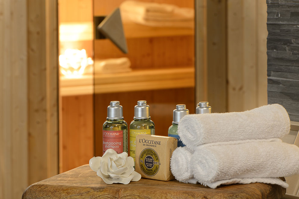 Relax in our SPA with the products l'occitane en Provence